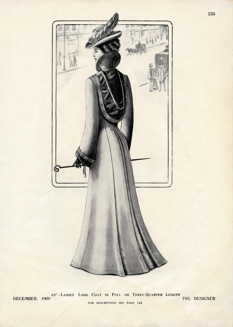 Victorian Ladies Coat Illustration