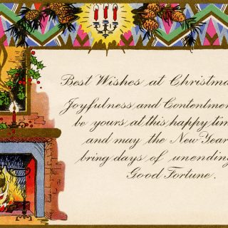 Art Deco Christmas Greeting Card