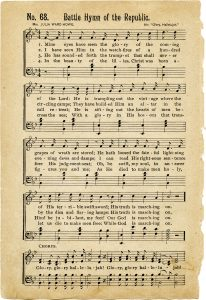Free vintage printable battle hymn of the republic