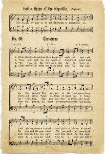 Free vintage printable Christmas hymn
