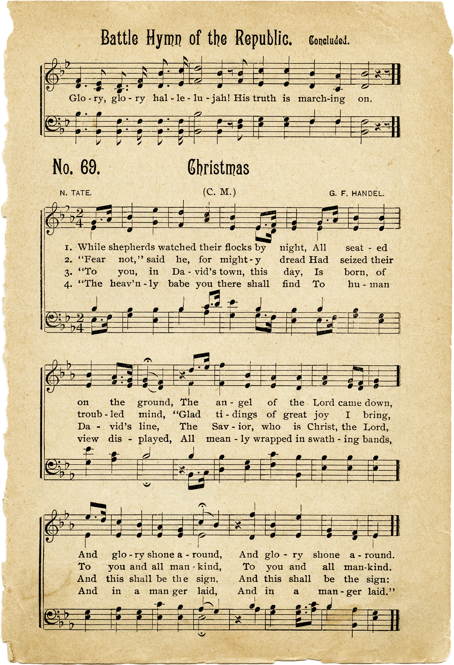 photo relating to Free Printable Vintage Christmas Sheet Music known as Traditional Hymns Sheet Songs - Aged Style Retail store Web site