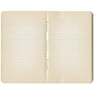 Open Vintage Notebook with Lined Pages