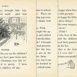 free vintage printable school reader page