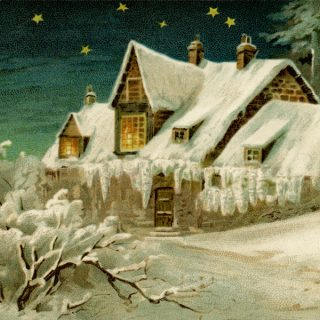 Vintage Country Winter Scene