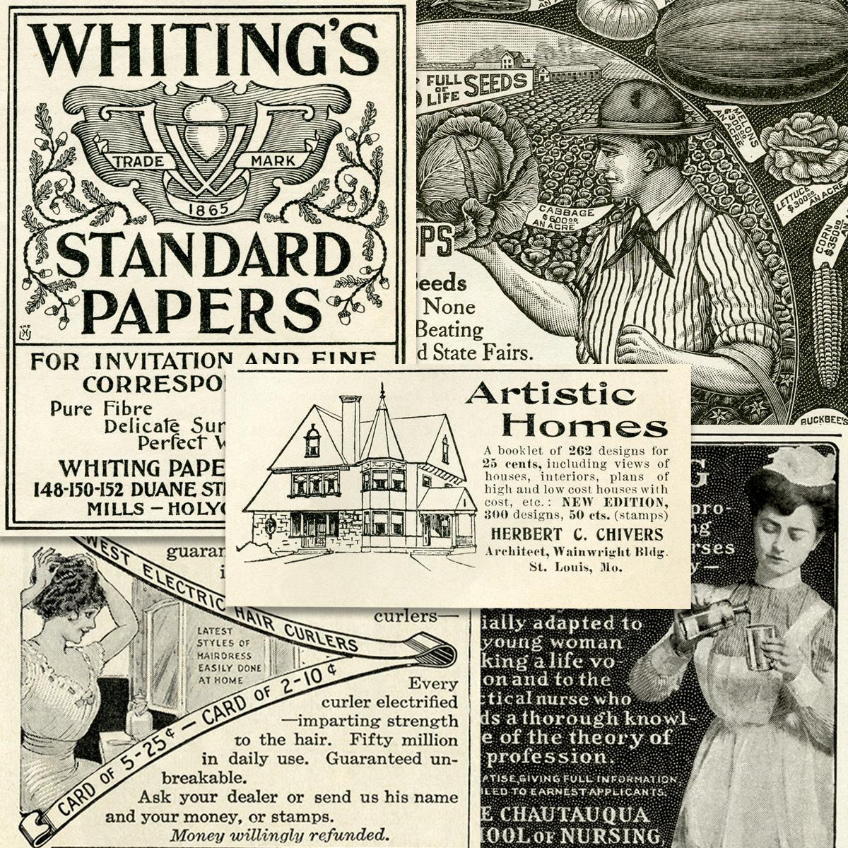 Old Fashioned Wedding Songs: Vintage Printable Magazine Ads