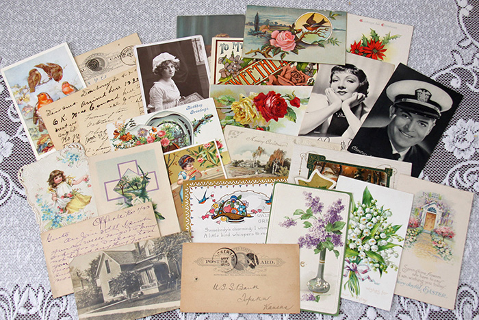Arrangement of vintage ephemera