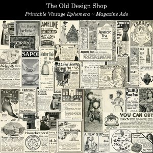 Prntable vintage magazine ads digital download