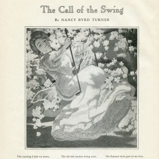 Free vintage illustrated poem call of the swing