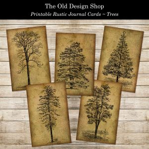 printable woodland themed tree cards