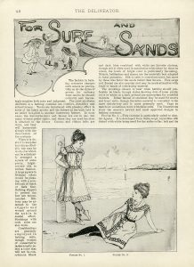 Free vintage beach fashion magazine article and illustrations