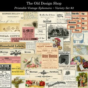 vintage printable ephemera