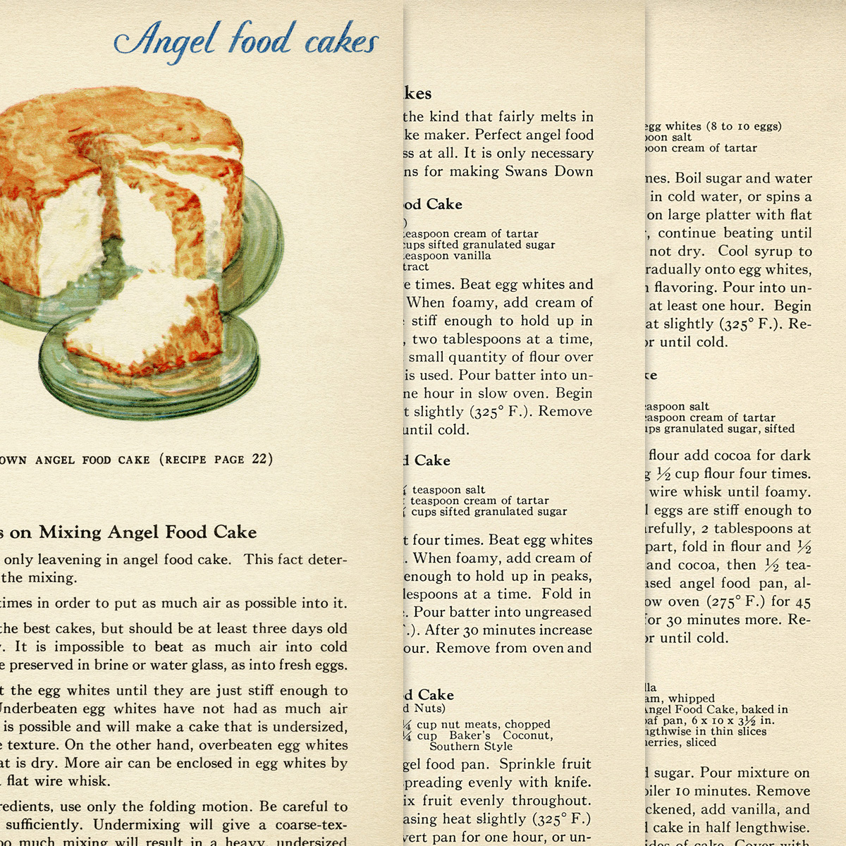 Vintage Angel Food Cake Recipes - Old Design Shop Blog