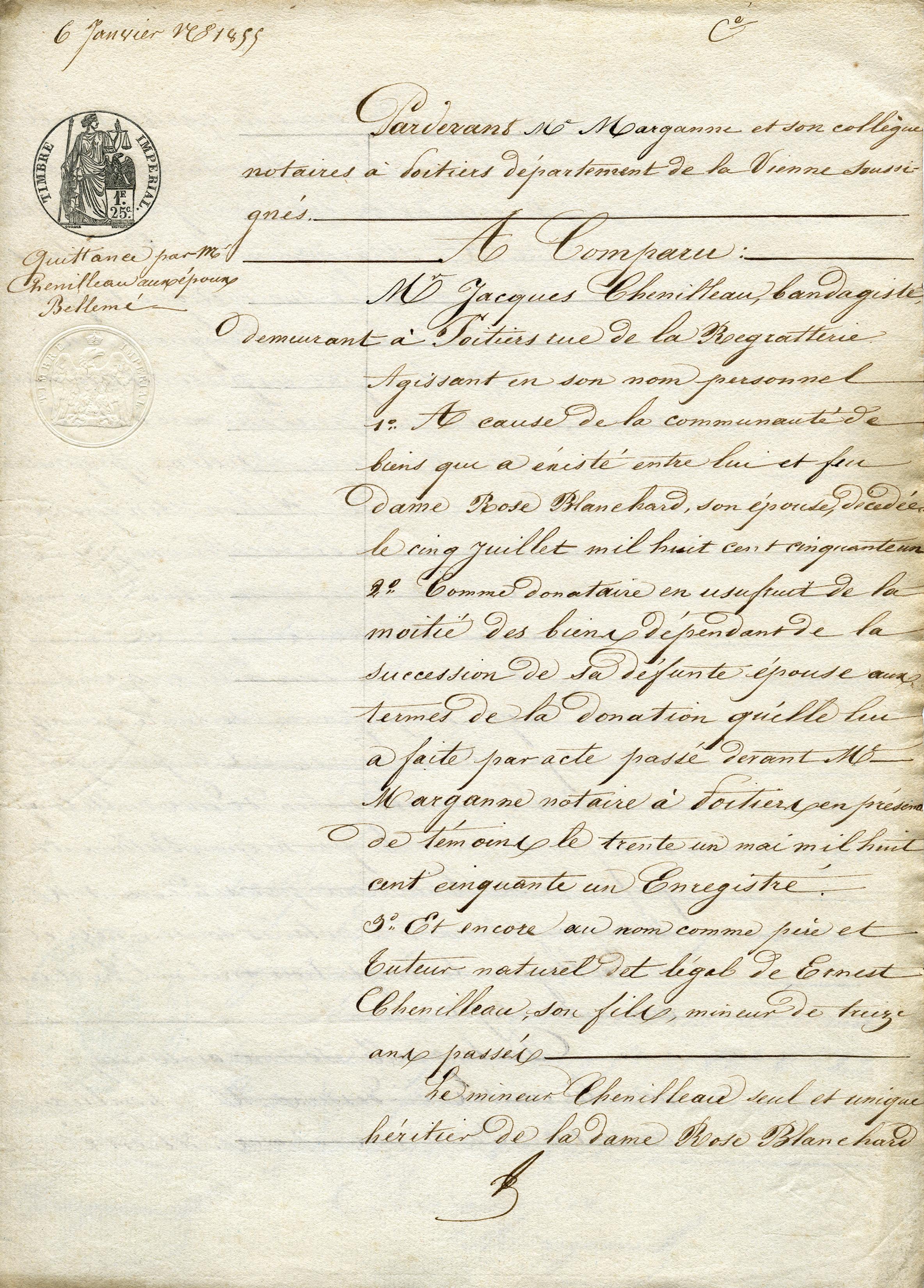 Free vintage French document digital download