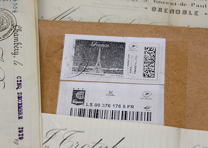 vintage french documents
