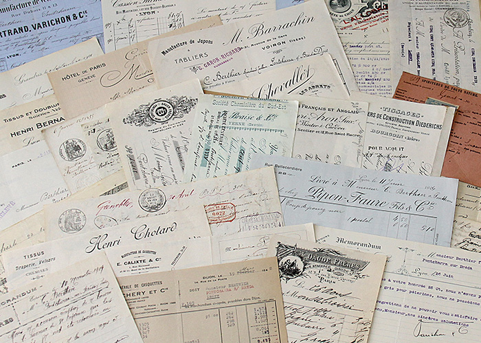 French Documents Antique Invoices Receipts And Letters