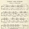 free printable vintage sheet music page forest and stream