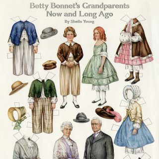free printable vintage paper doll Betty Bonnet's Grandparents