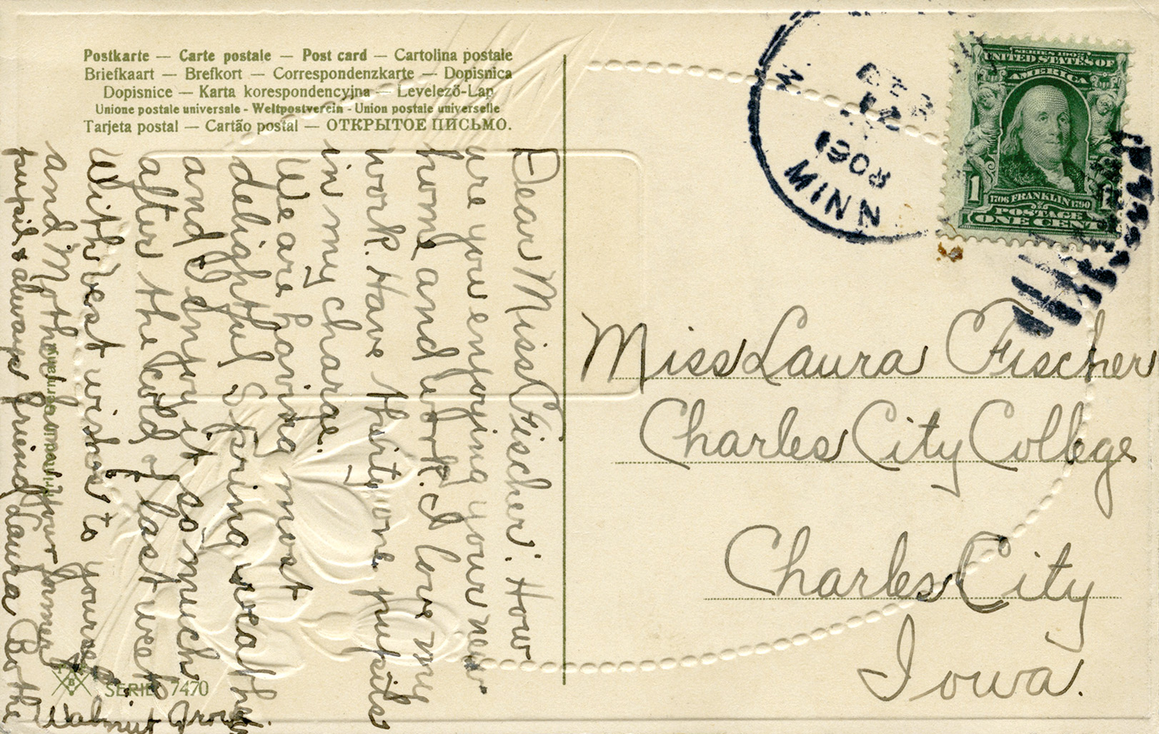 handwritten postcards vintage printable ephemera