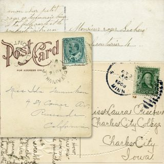 Handwritten Postcards Vintage Ephemera