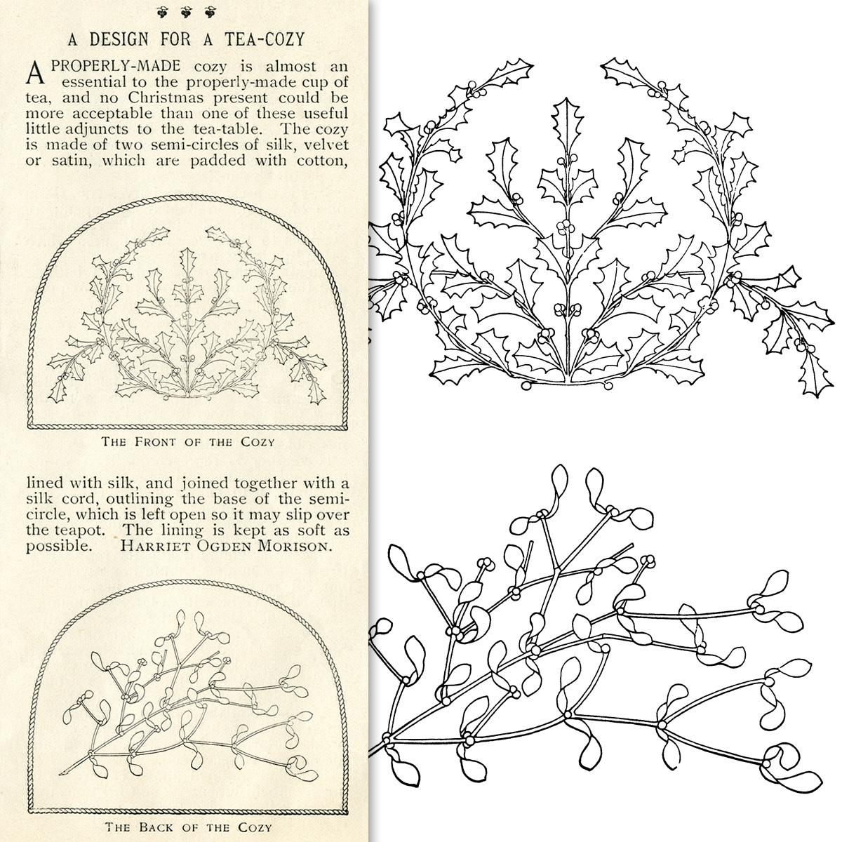 Holly And Mistletoe Vintage Christmas Designs Old Design Shop Blog