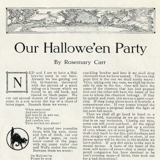 Vintage Halloween Party Clip Art