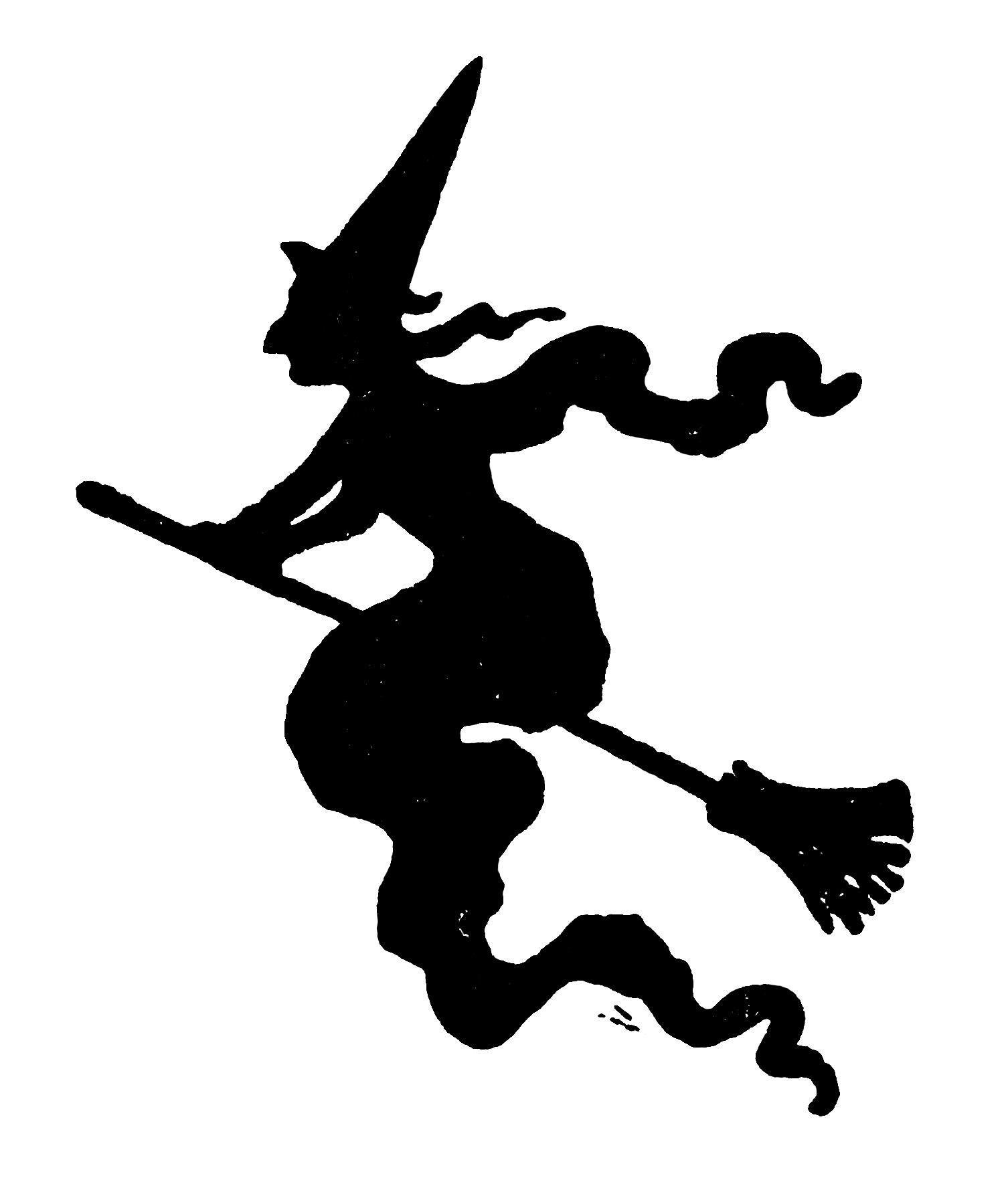 free printable vintage Halloween clip art