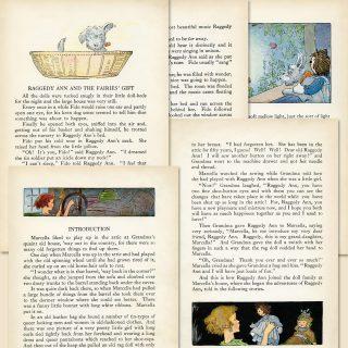 free printable vintage Raggedy Ann book page