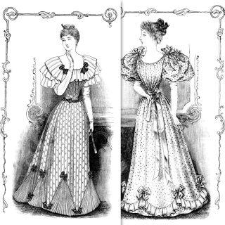Vintage Ladies Fashion Clip Art