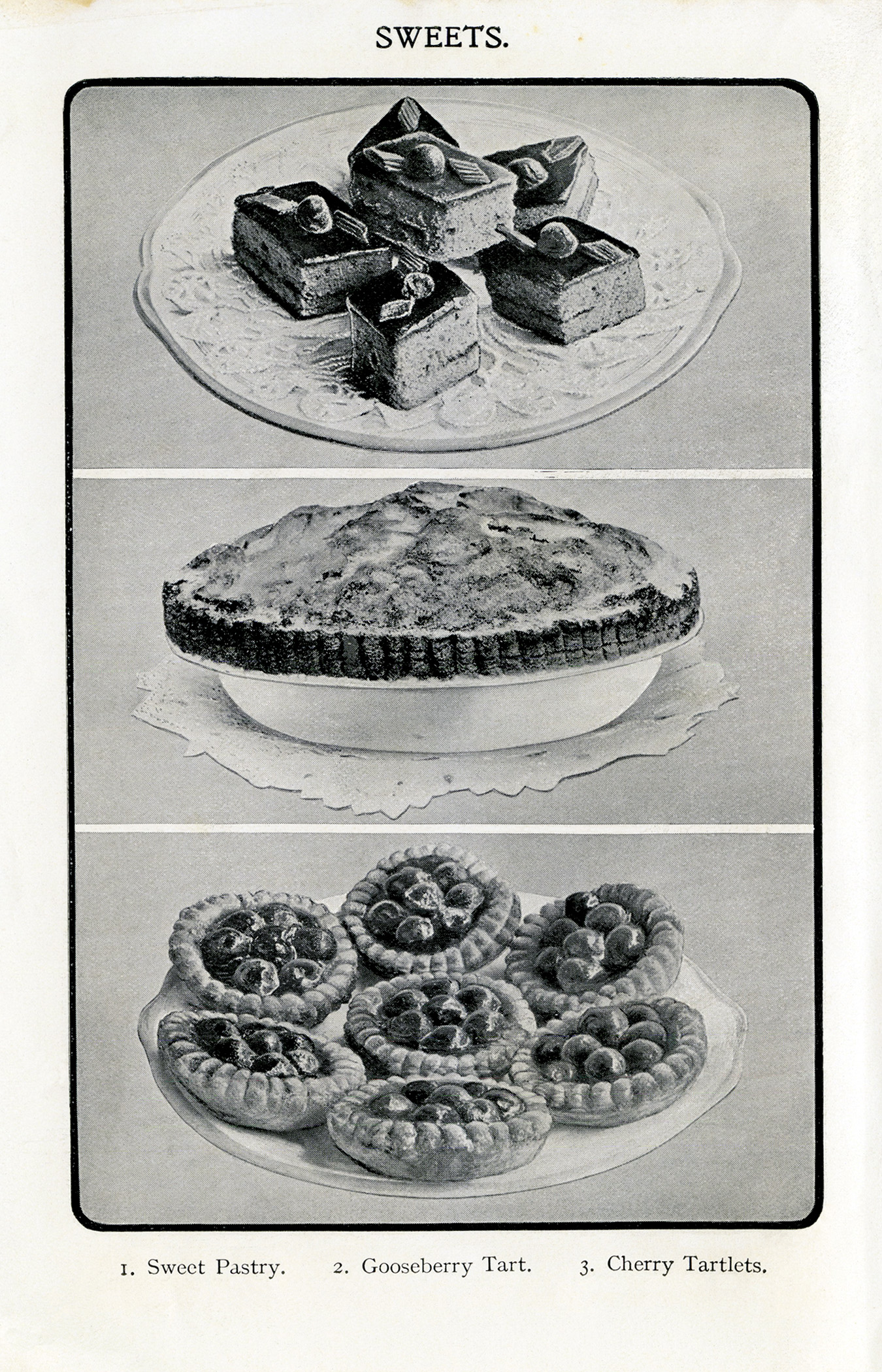 Free vintage tart and tartlet recipes