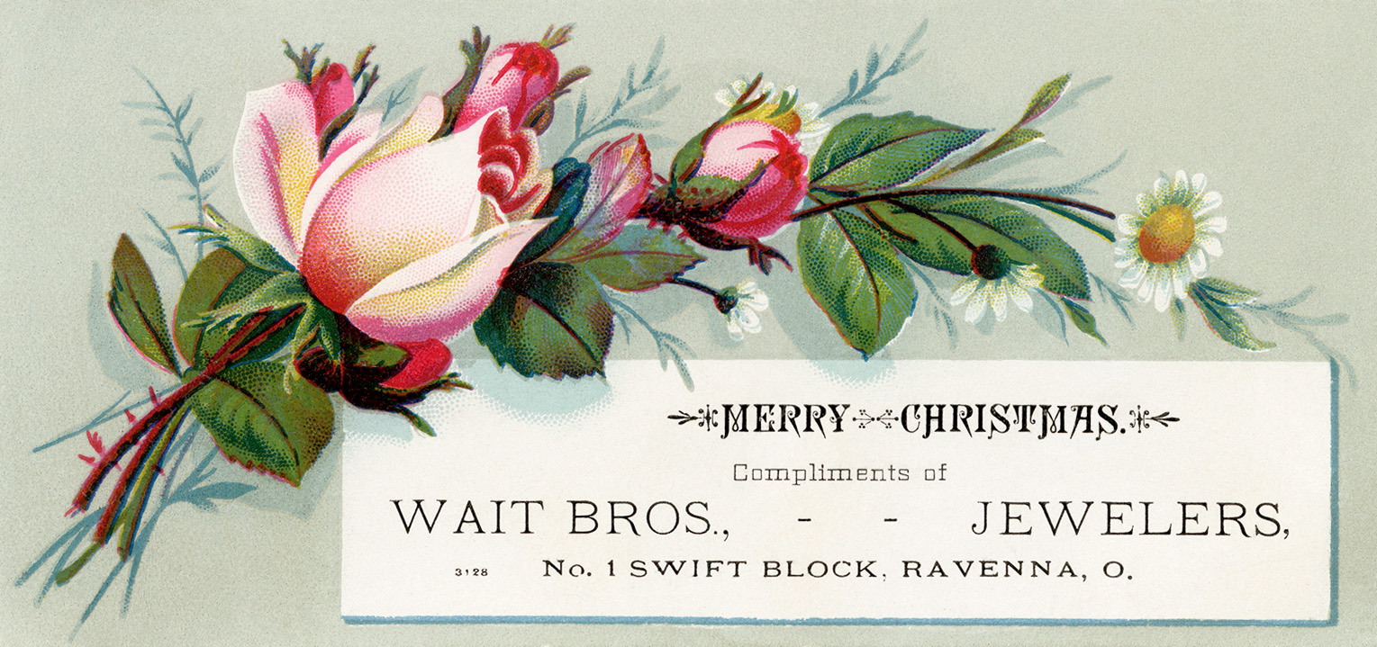 Free printable Victorian Christmas advertising cards