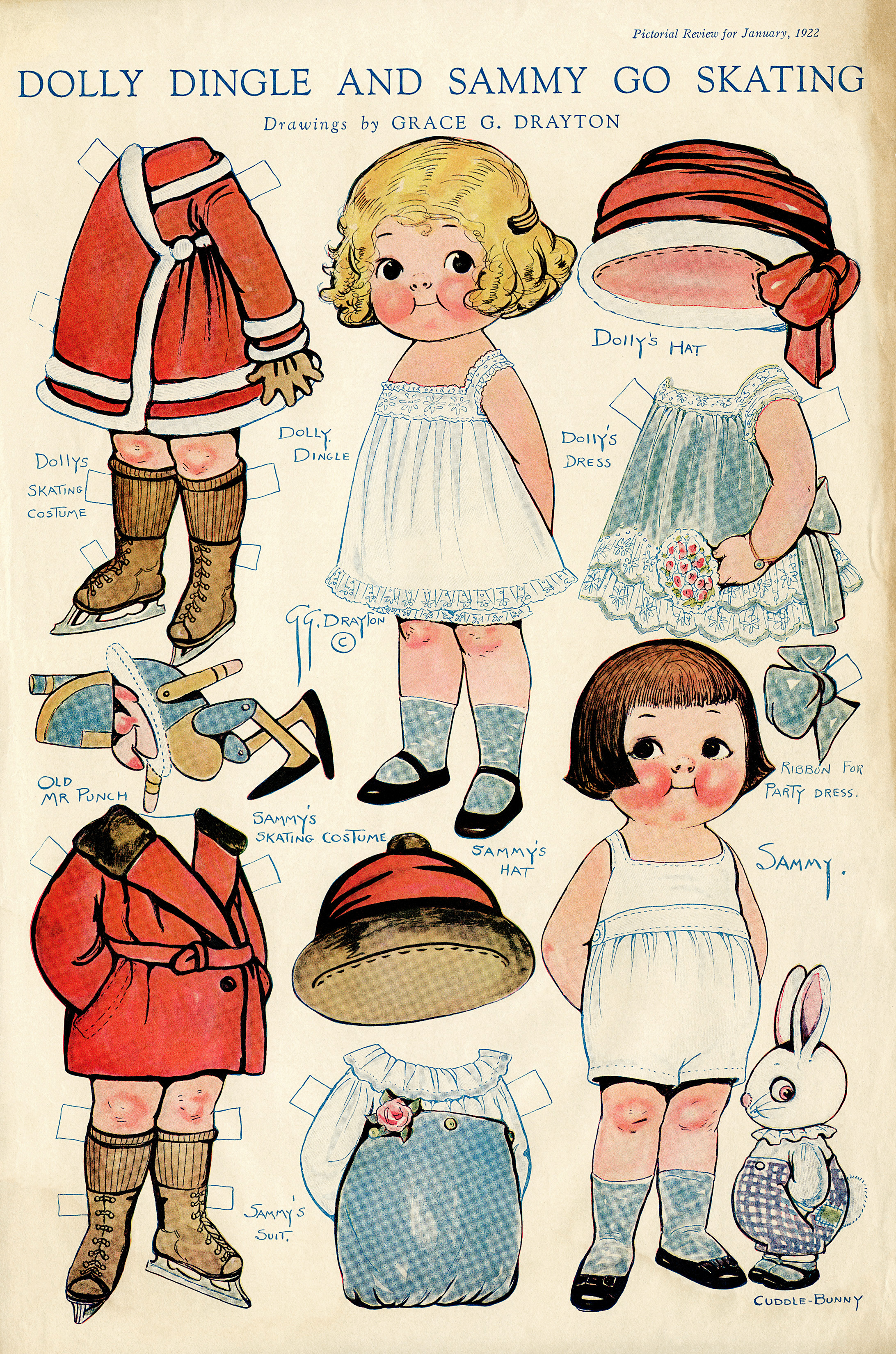 graphic about Printable Vintage Paper Dolls titled Dolly Dingle and Sammy Classic Paper Dolls - Previous Layout Retail store