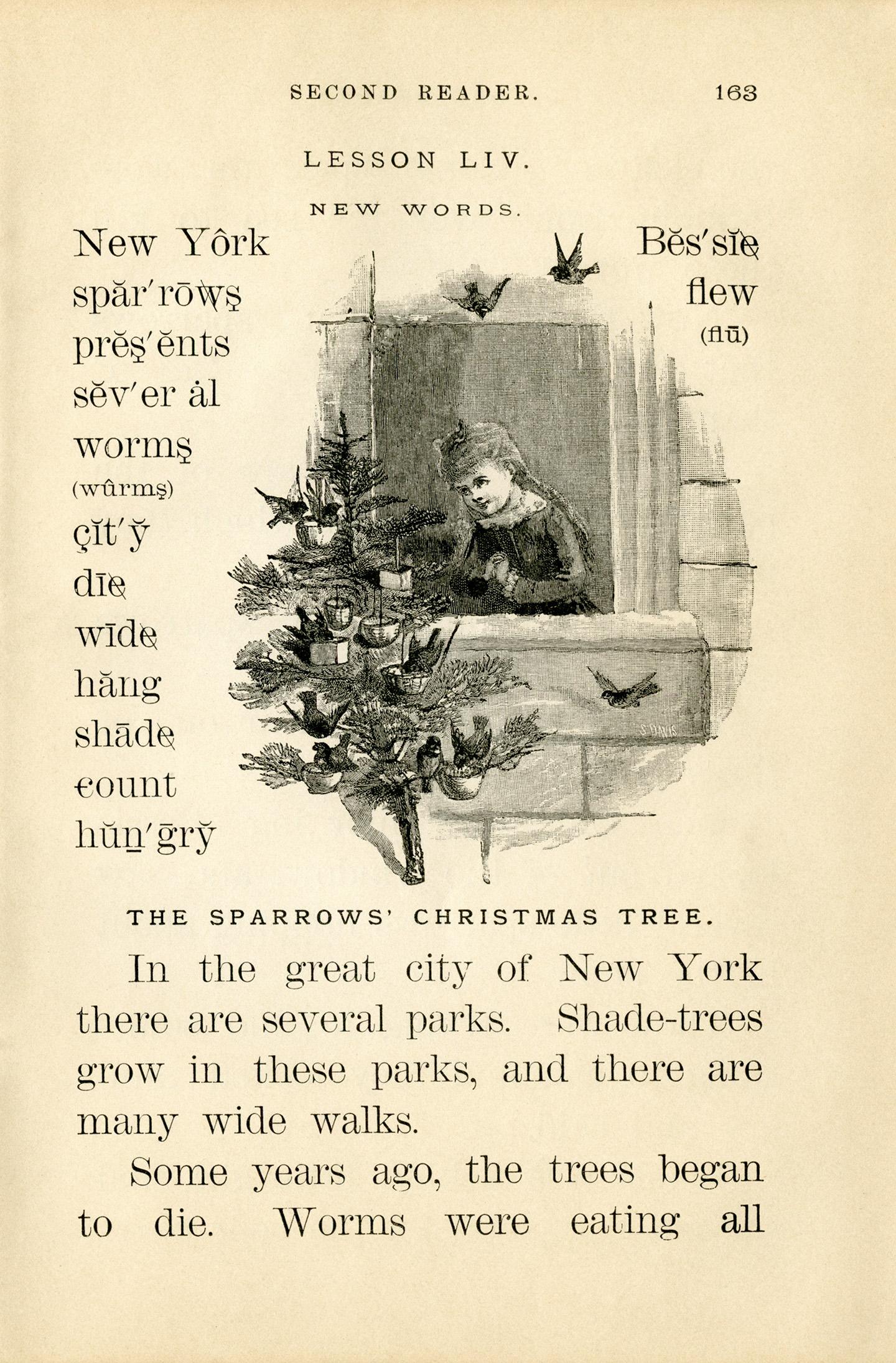 Free printable Sparrows Christmas Tree story