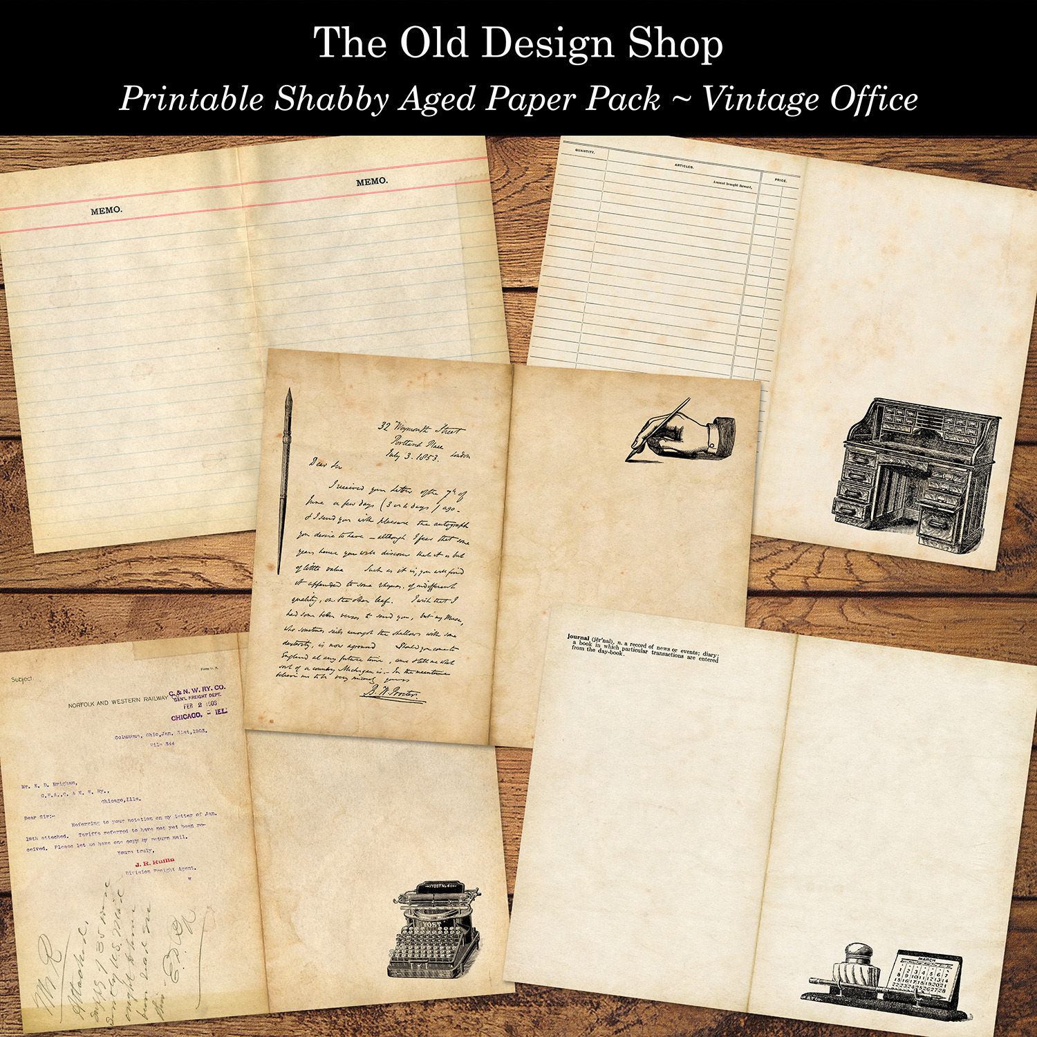 printable vintage office paper