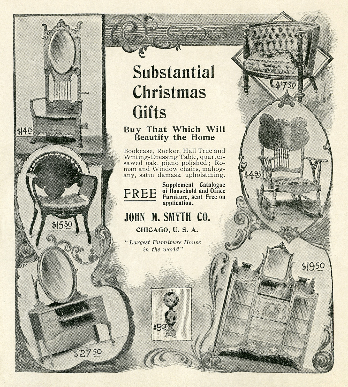 Free printable vintage Christmas advertisements