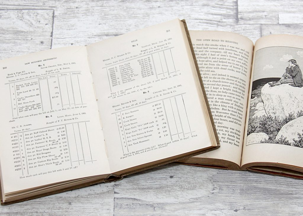 Free printable vintage arithmetic book page