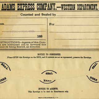 free printable shabby vintage envelope Adams Express