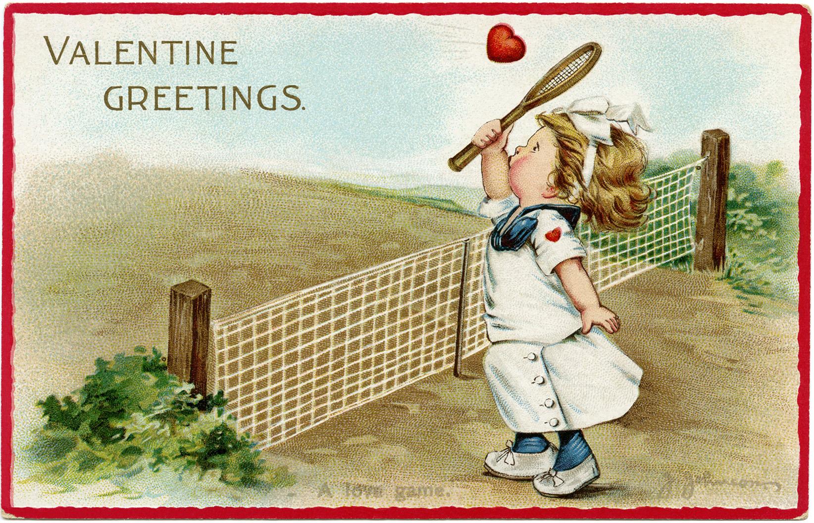 vintage children valentine