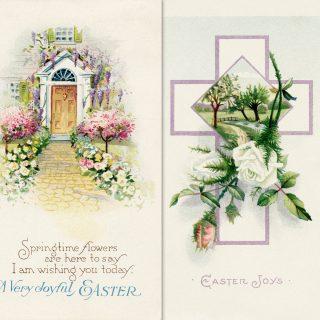 free printable vintage easter postcards clip art image