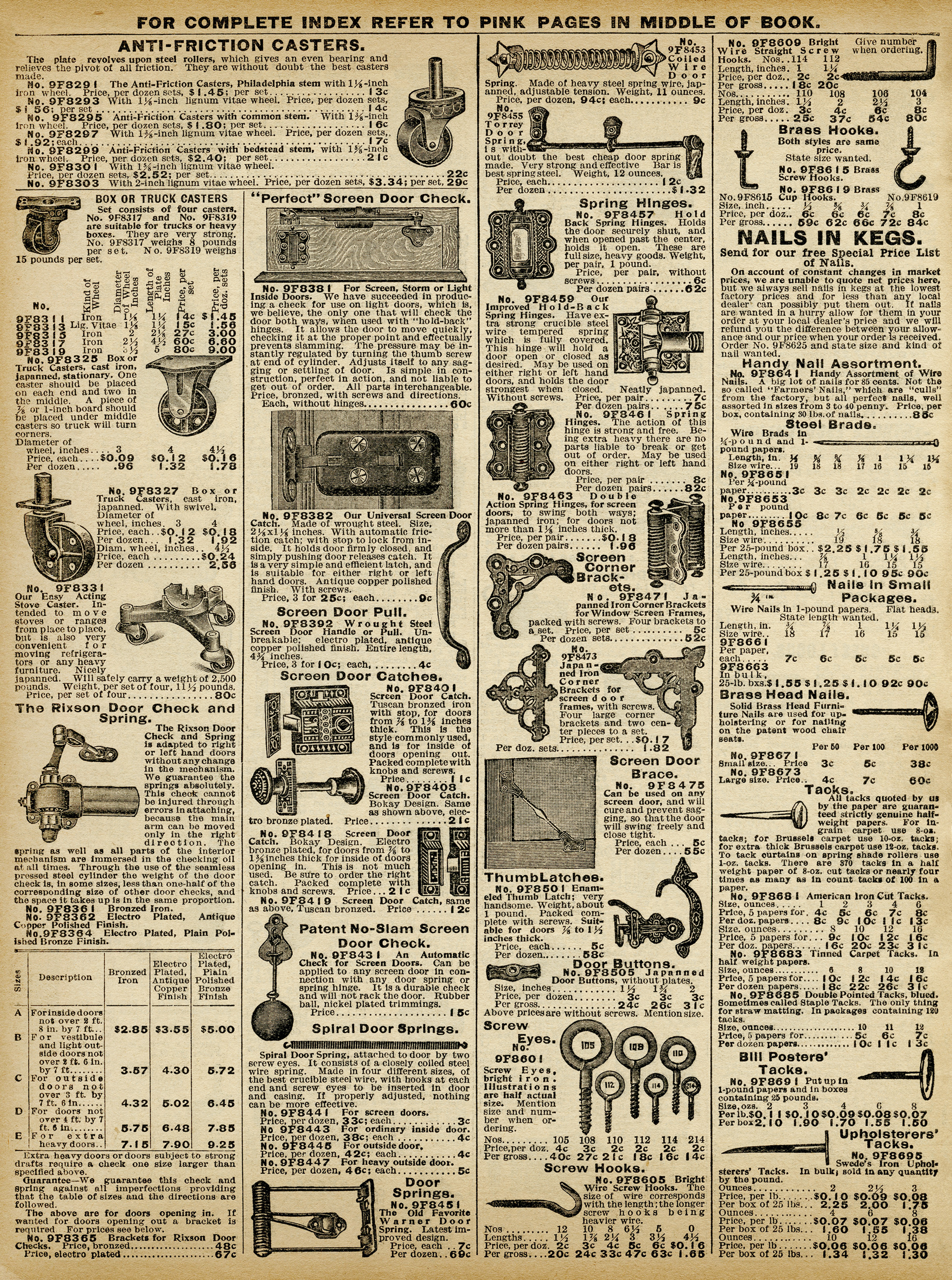 vintage hardware free printable catalog page