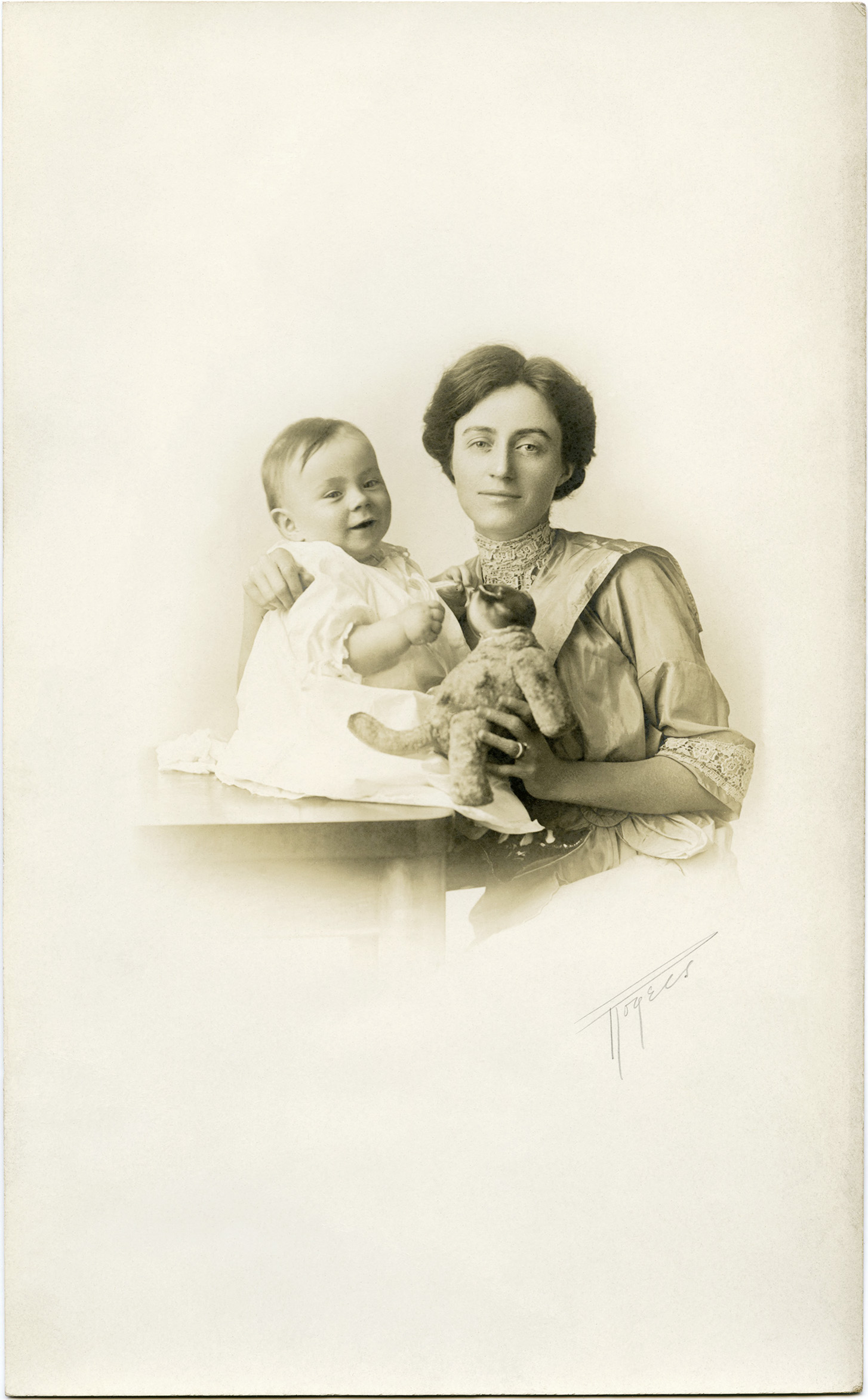 mother and baby vintage photograph