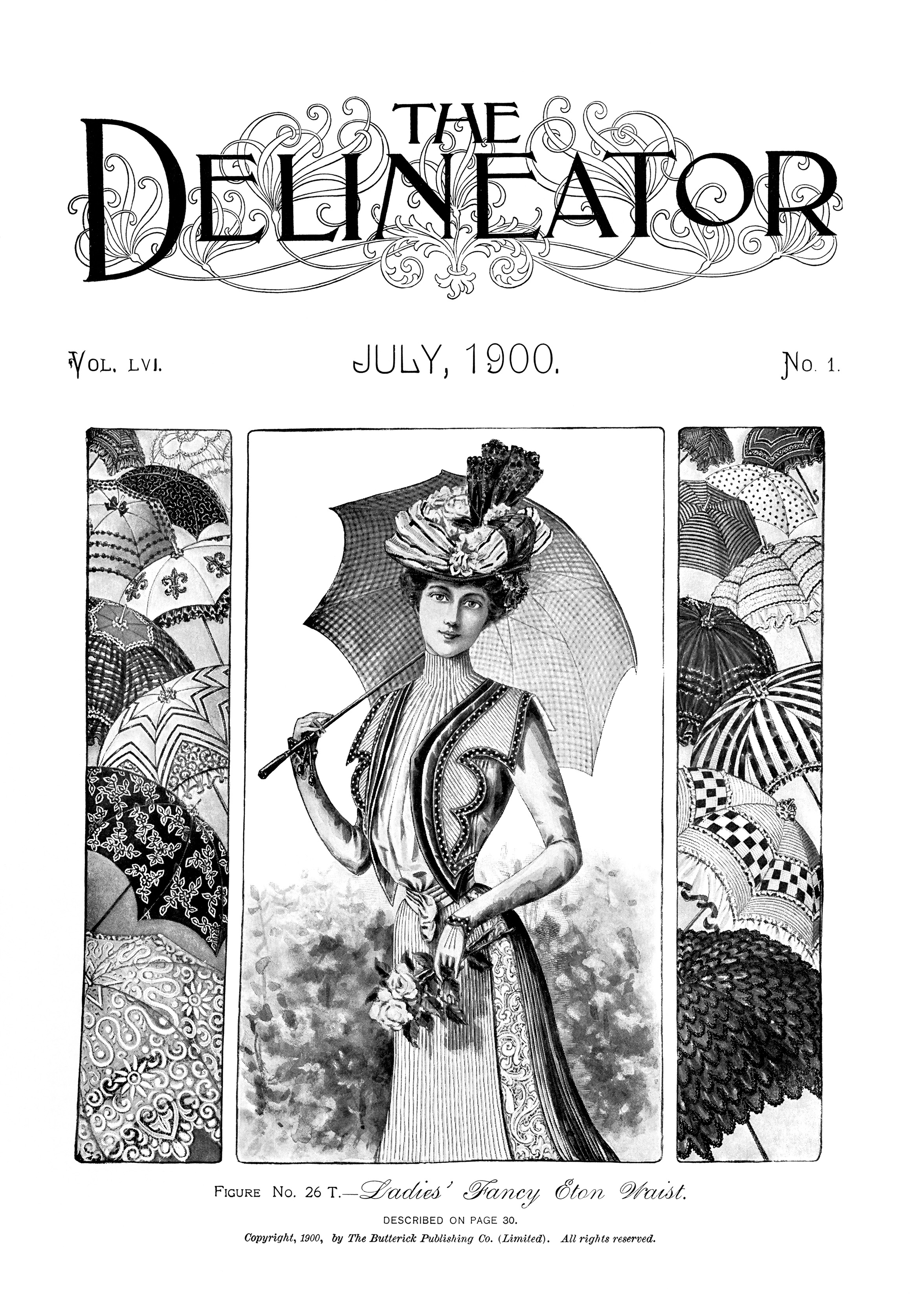July 1900 ladies fashion free printable clip art