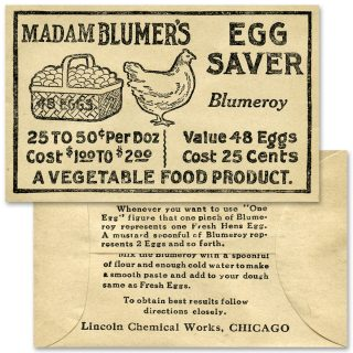 free printable blumer's egg saver vintage envelope