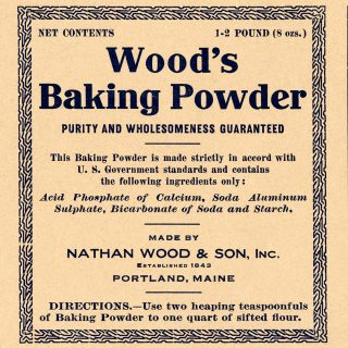 free baking powder vintage ephemera food label