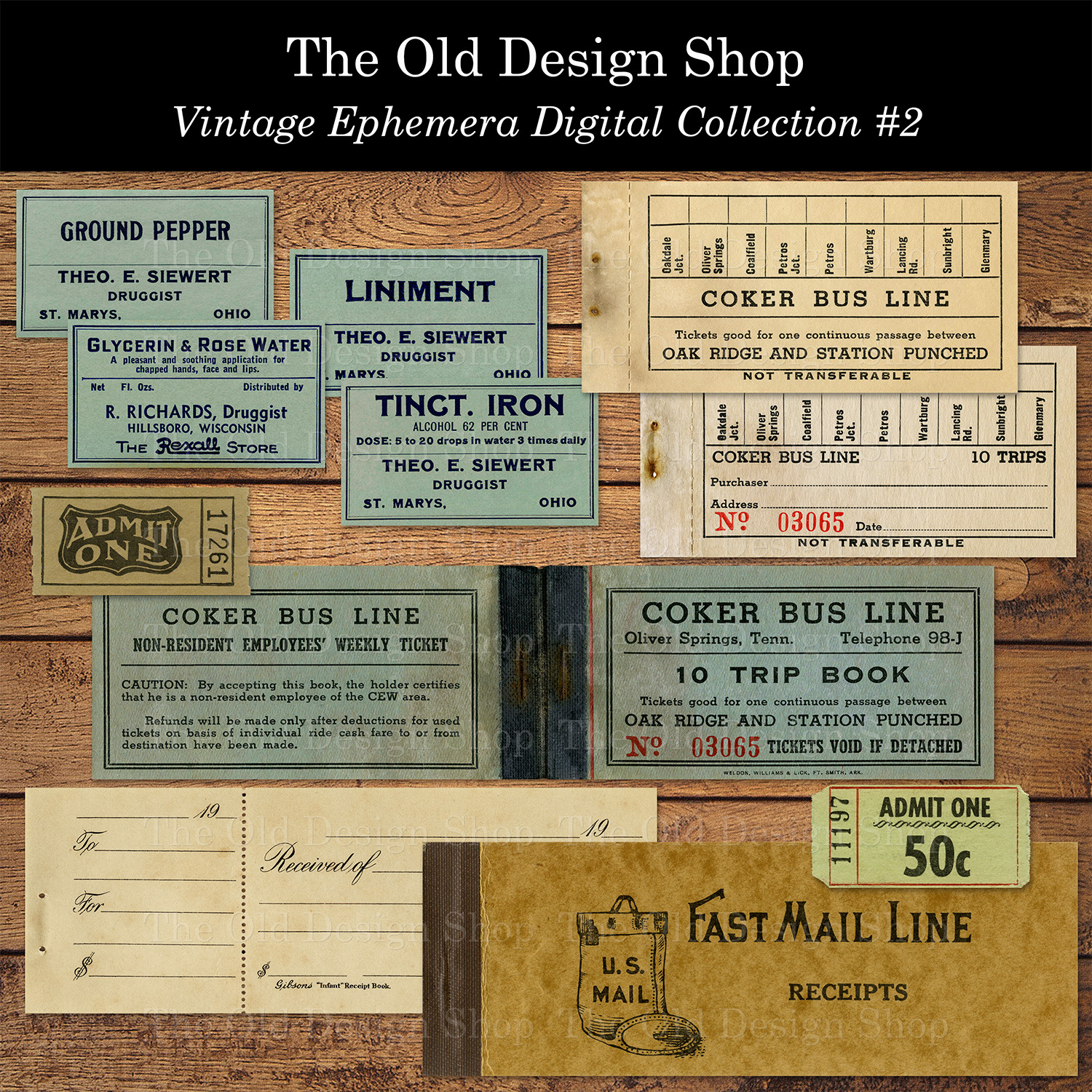 vintage ephemera digital download