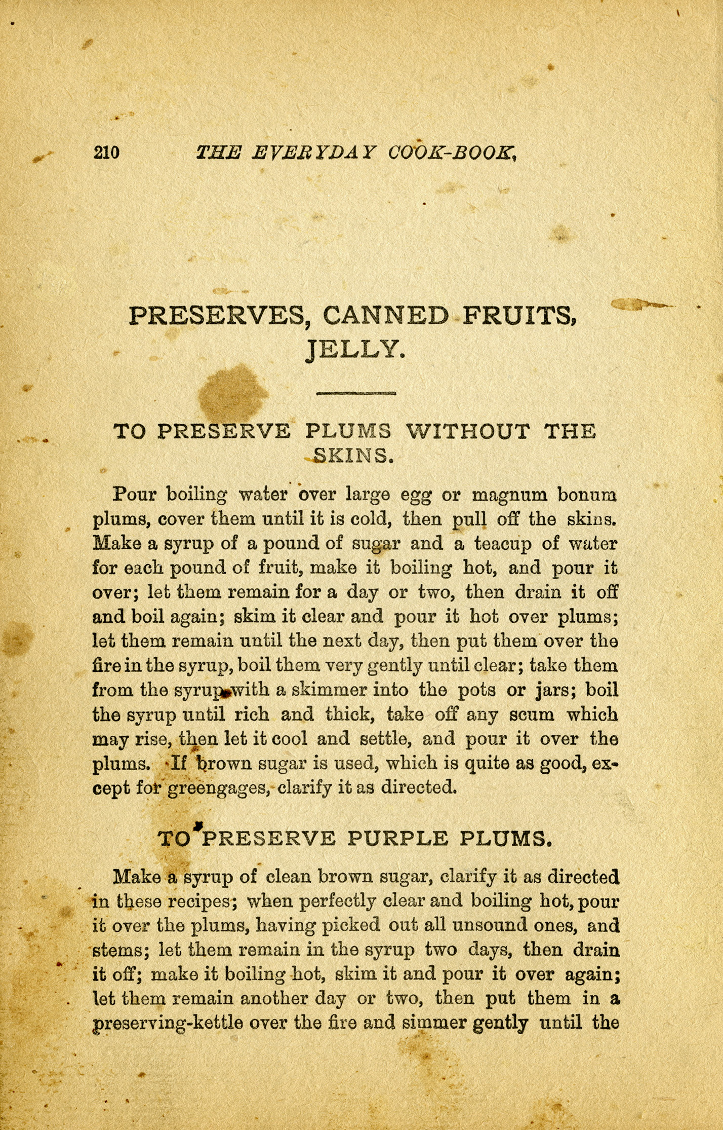 vintage preserves recipes cookbook page