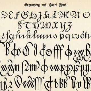 antique calligraphy alphabets free printable