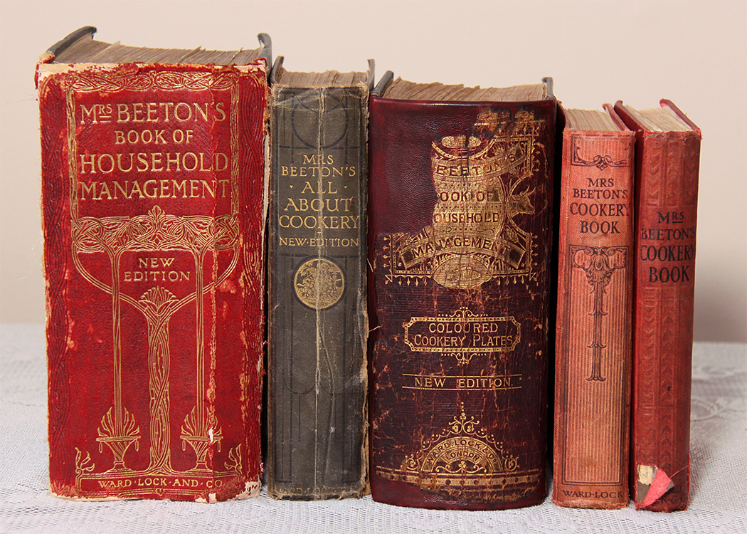 Mrs Beeton's antique cookbooks