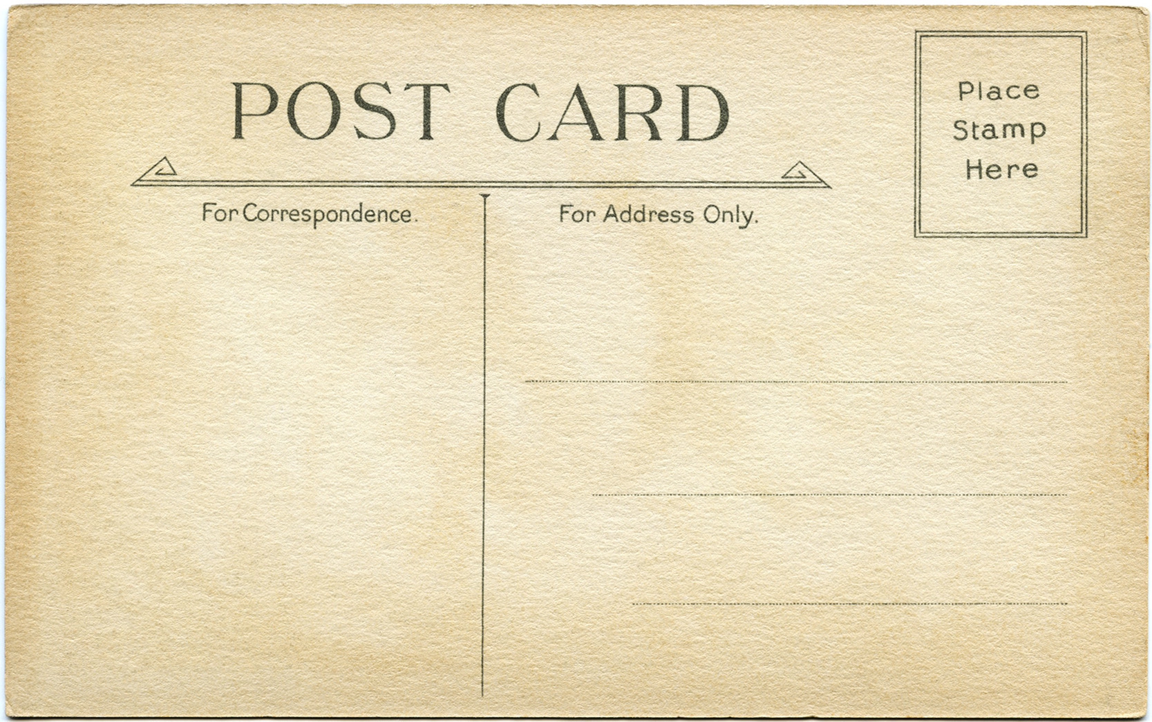 vintage printable postcard back