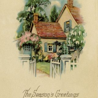 season's greeting vintage Christmas postcard