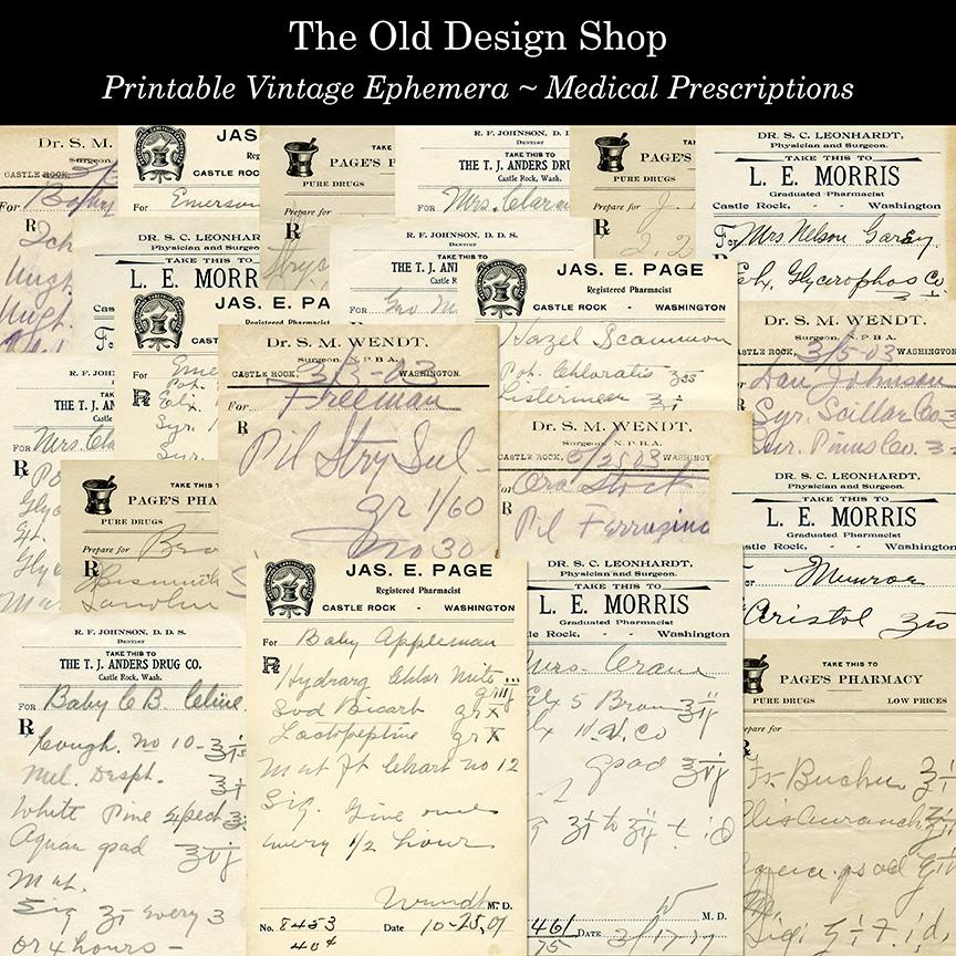 printable vintage medical prescriptions